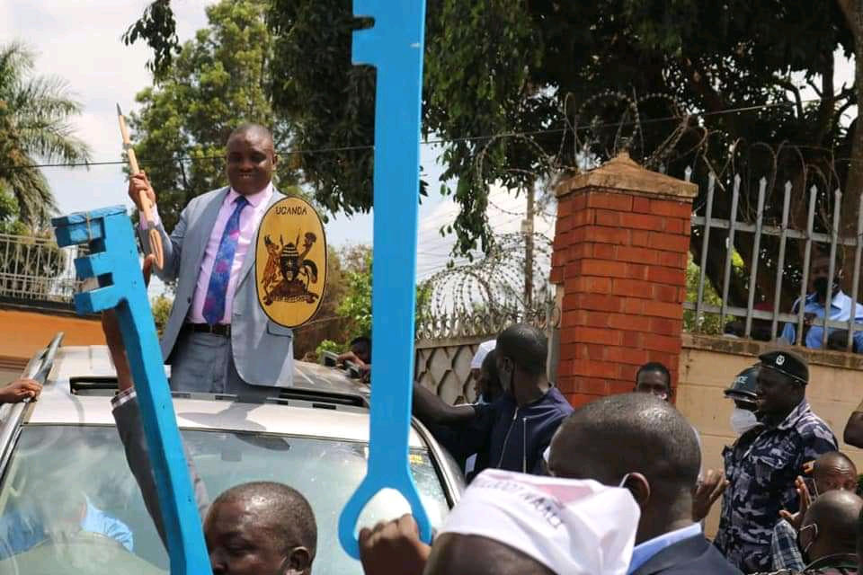 FDC's Erias Lukwago going for nomination for Kampala Lord mayoral race on Wednesday (PHOTO/Courtesy).