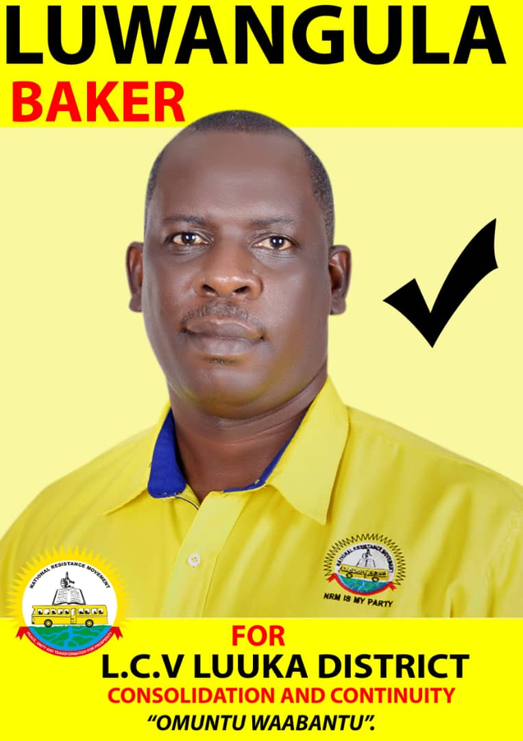 Luuka, incumbent district chairperson Baker Luwangula was declared winner with 32, 199 votes