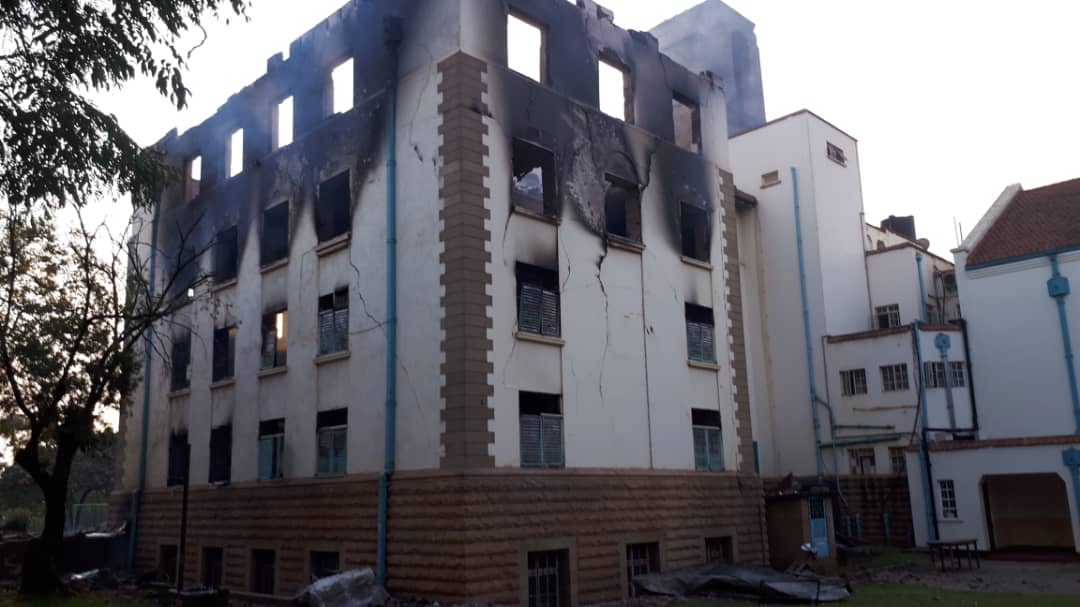 The burnt Makerere university tower