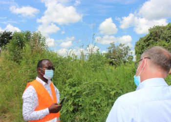 Dr. Eng Silver Mugisha and the Nile River Water Supply system consultant visiting proposed project sites (PHOTO/Courtesy).