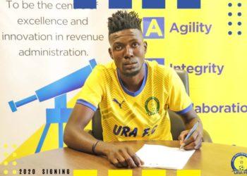 Arafat Ggaliwango signed a three-year deal with URA FC on Monday. (PHOTO/Courtesy)
