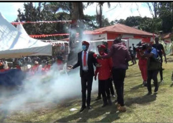 Jose Chameleon and his fans being teargassed recently (PHOTO/Courtesy).