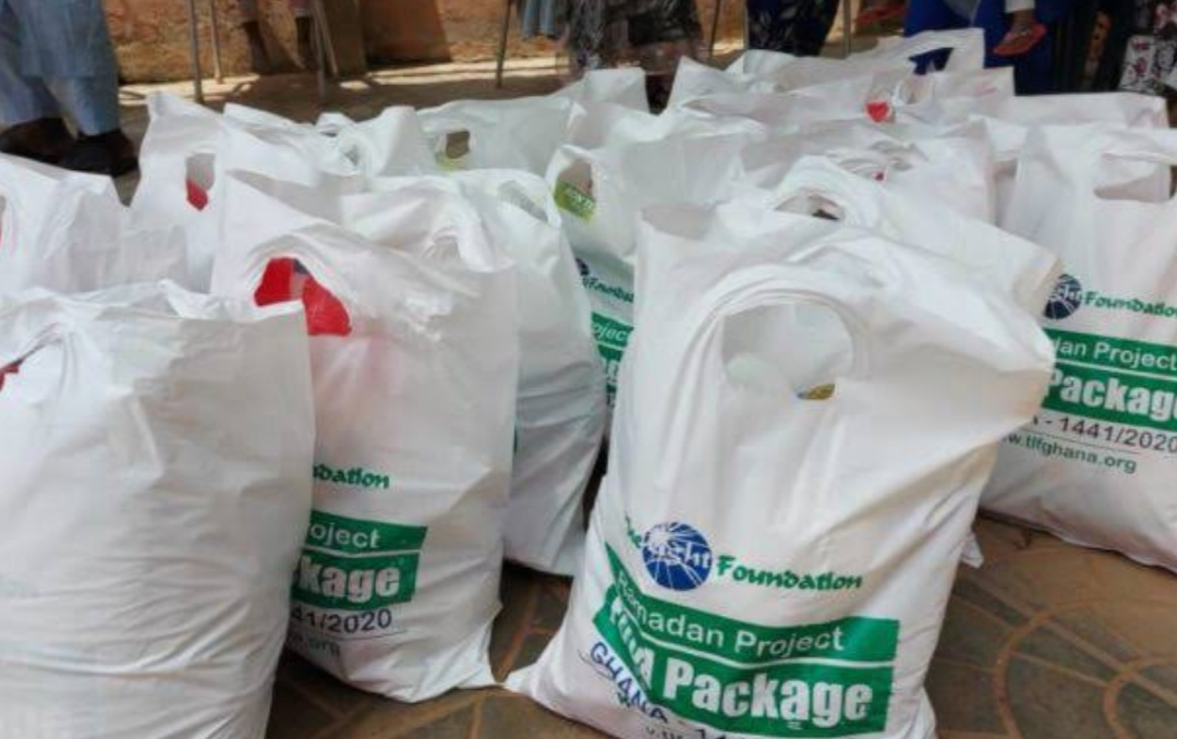Some of the packets of food given the refugees in Libya (PHOTO/Courtesy).