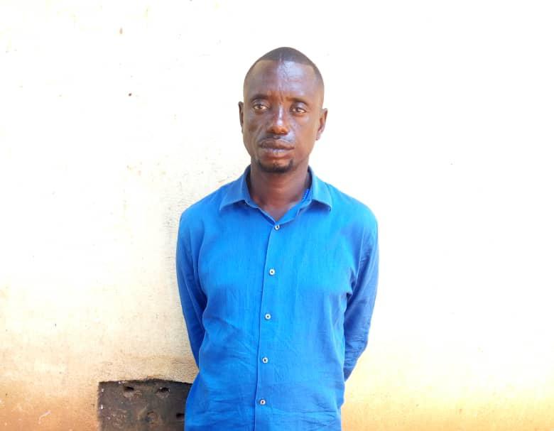 The arrested suspect, Wandera Geoffrey (PHOTO/Courtesy).