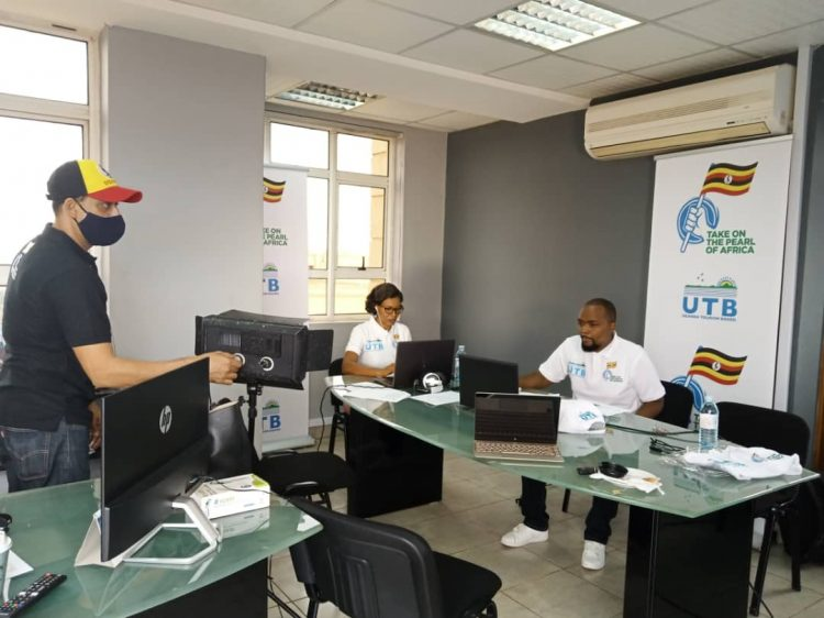 UTB officials during the launch of the 22 Take on The Pearl of Africa campaign (PHOTO/Courtesy).