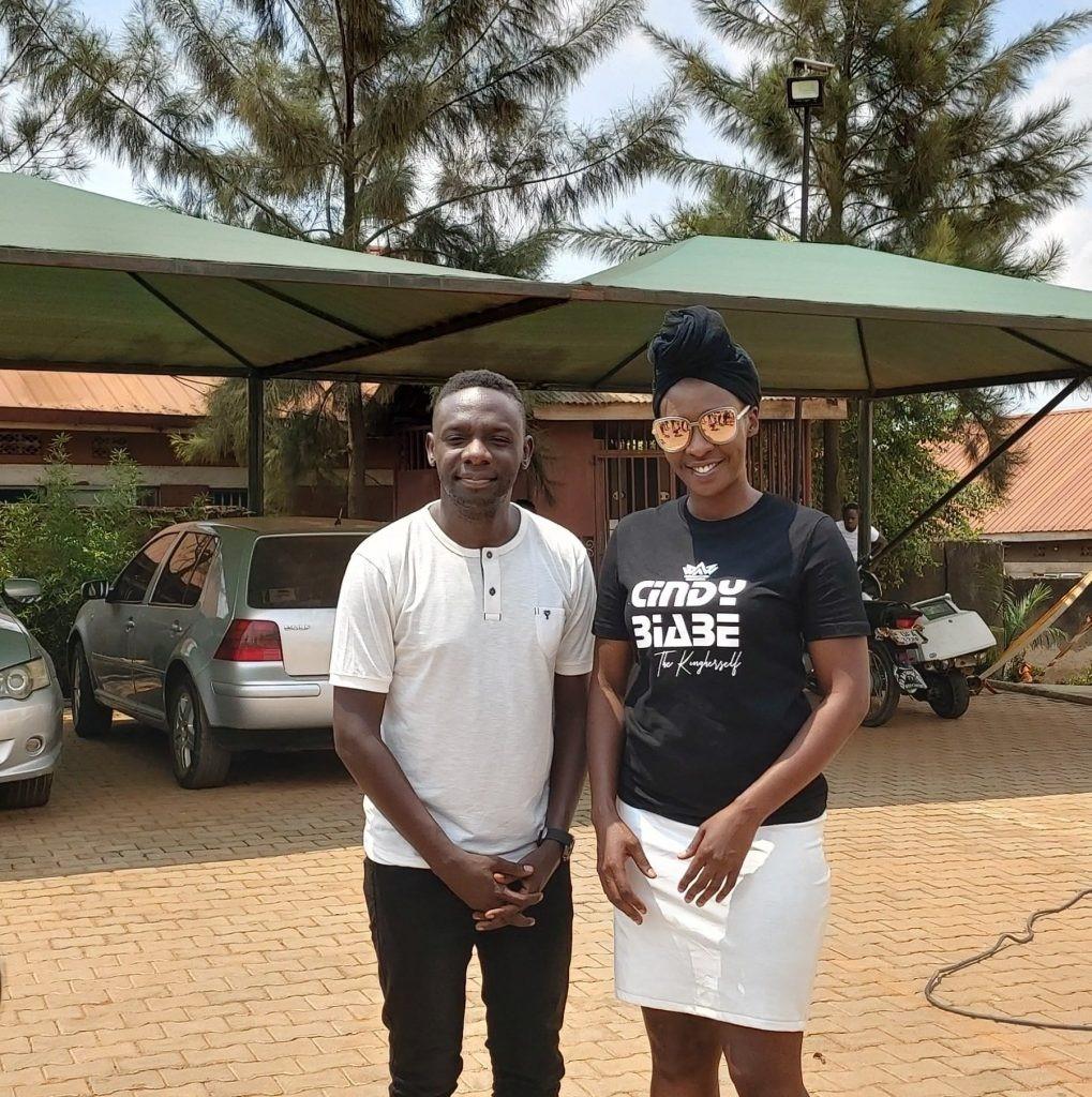 Pr Wilson Bugembe and singer Cinderella Sanyu on Sunday after service (PHOTO/Courtesy).