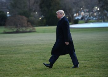U.S. President Donald Trump leaves the White House in Washington D.C. Dec. 18, 2019. (PHOTO/Xinhua).