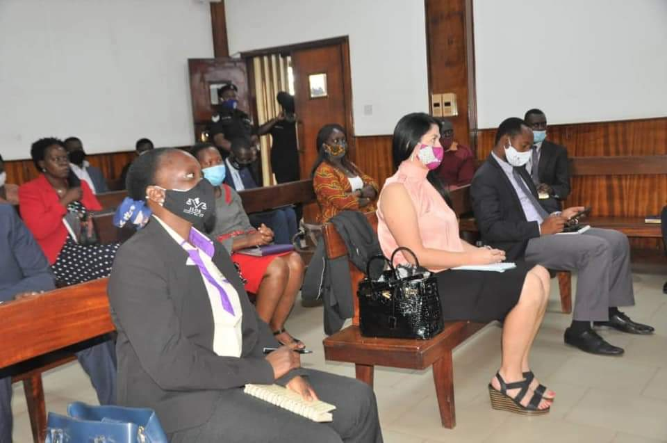 Some of the Development Partners and JLOS Team at Buganda Road Court (PHOTO/Courtesy).