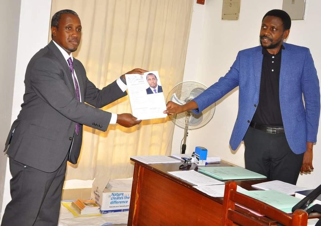 MP Gerald Karuhanga being nominated (PHOTO/Courtesy).