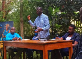 Dr Besigye speaking during the launch of the book (PHOTO/Courtesy).