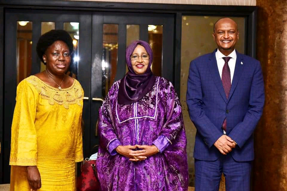 Speaker Kadaga hailed businesswoman Amina Hersi Morghe (M)