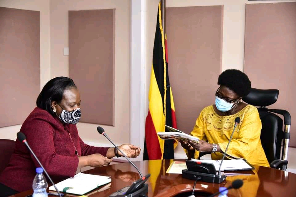 KCCA Executive Director, Dorothy Kisaka and Speaker Rebecca Kadaga respectively during a meeting (PHOTO/Courtesy).