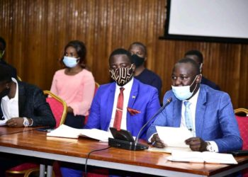 University student leaders in a meeting with Speaker Kadaga on Wednesday (PHOTO/Courtesy).