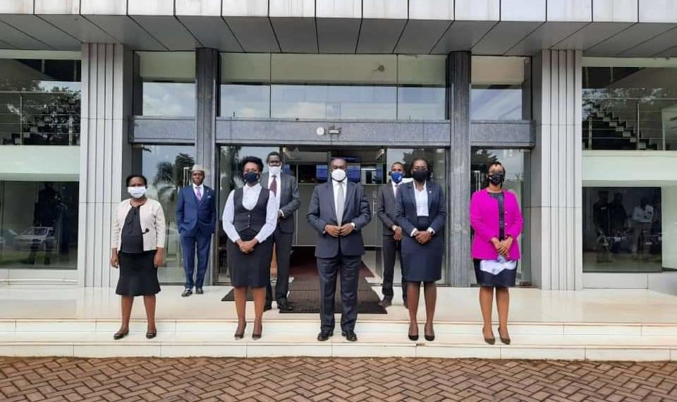 KAMPALA - The Uganda Law Society Executive Council Officials in a group photo with the Chief Justice, Alfonse C. Owiny-Dollo on Thursday (PHOTO/Courtesy).