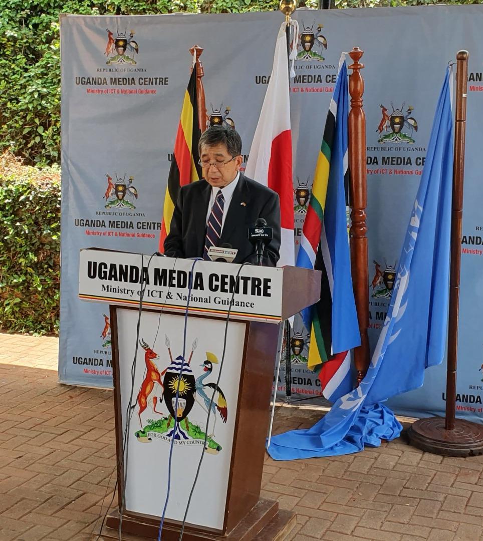 H.E. Kazuaki Kameda, Ambassador of Japan to Uganda assures citizens that their Government will continue to help refugees hosting districts in Uganda (PHOTO/Courtesy)