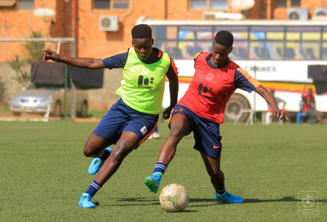 Juliet Nalukenge (R) during Sunday's training session at Lugogo. (PHOTO/Courtesy)