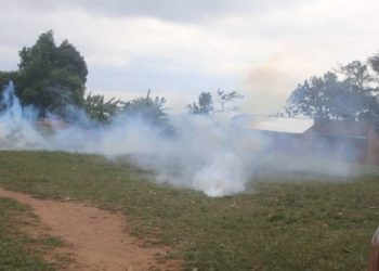 Police fired teargas in dignitaries who were attending prayers (PHOTO/Courtesy).