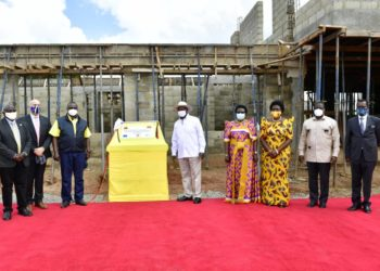 The President also launched the construction of Gulu Logistics Hub in Gulu City (PHOTO/PPU)