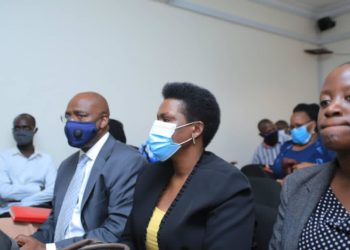 Ms Ntambi during the court session at the anti-corruption court today (PHOTO/Courtesy).