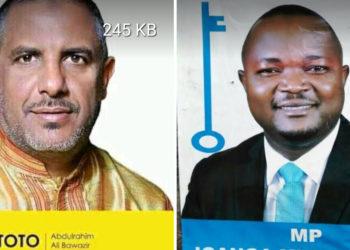 NRM's Abdulrahim Ali Bewazir aka Toto and FDC's Abed Nasser Mudiobole respectively (PHOTO/Courtesy).