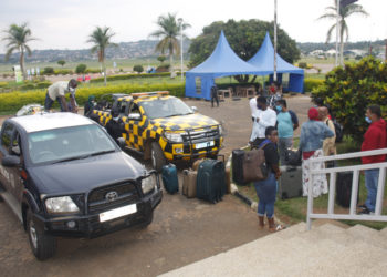 The second group of intending travellers that was arrested at Entebbe International Airportafter being brought at AVPOL (PHOTO/PML Daily).