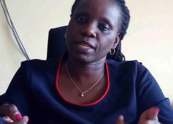 UNEB Spokesperson, Janipher Kalule speaking to the press recently (PHOTO/File).