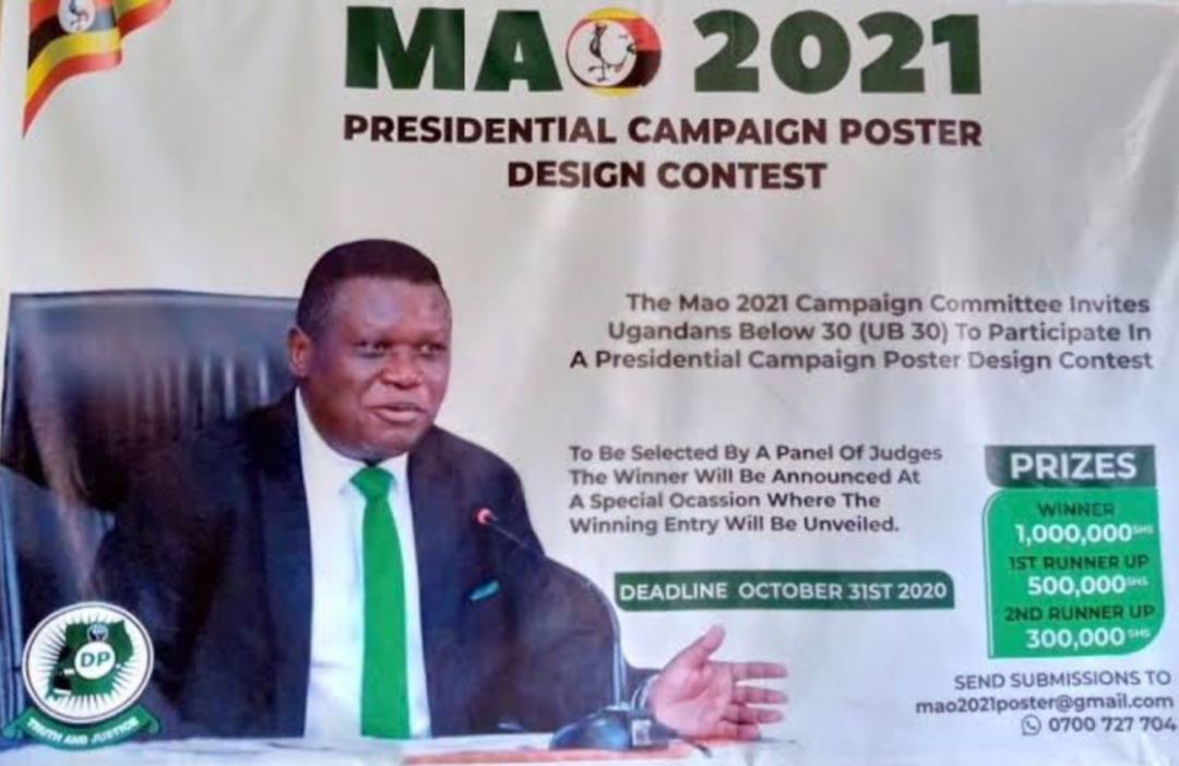 DP's 2021Presidential flag bearer Norbert Mao official poster (PHOTO/Courtesy).