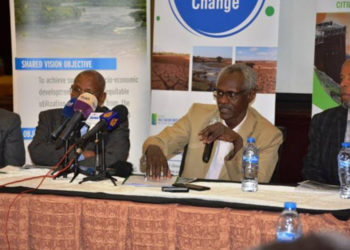 Yasir Abbas, Sudan's minister of irrigation and water resources during a presser (PHOTO/Courtesy).