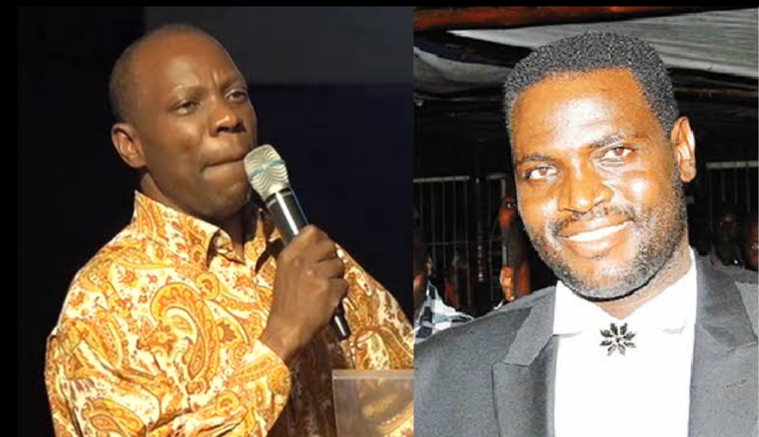 Pastor Jackson Ssenyonga (L) has been criticized for Speaking