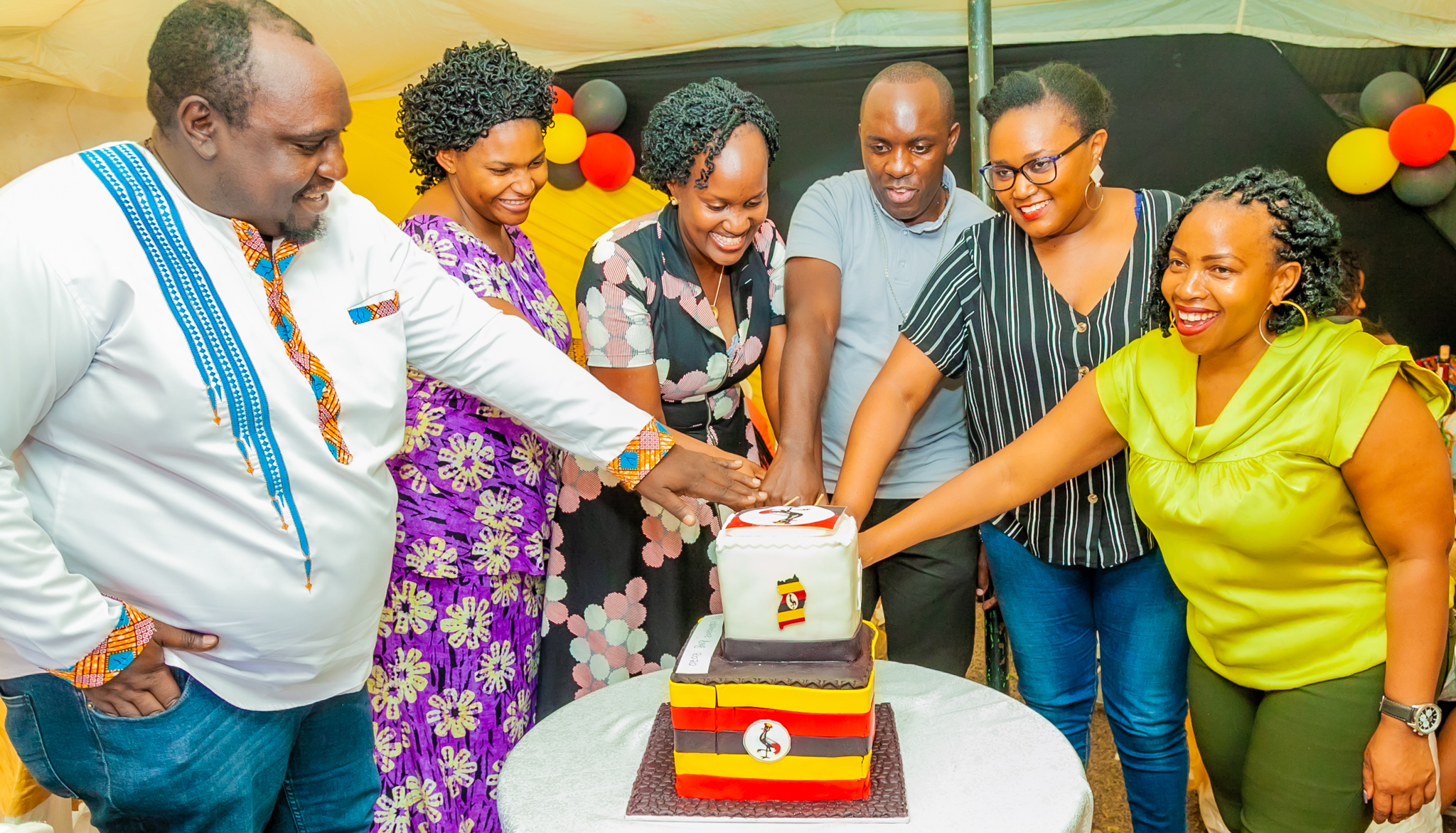 Ugandans in Kenya linked up to celebrate Independence Day (PHOTO/Courtesy).