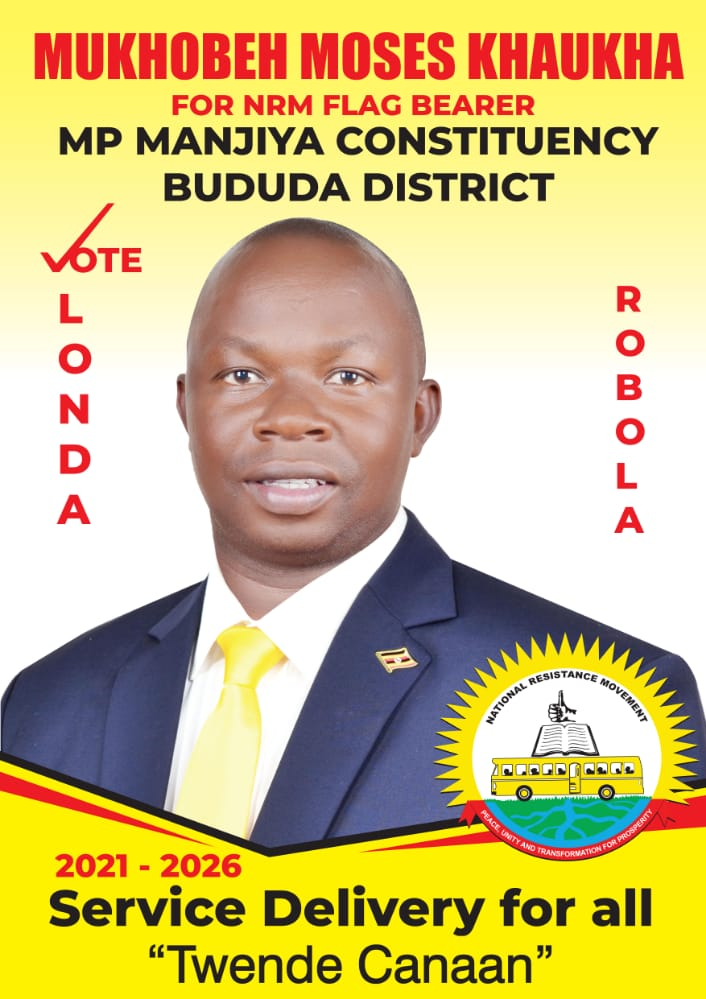 Mr Moses Mukhobeh the official NRM flag bearer 2021 parliamentary elections for Manjiya County (PHOTO/Courtesy).