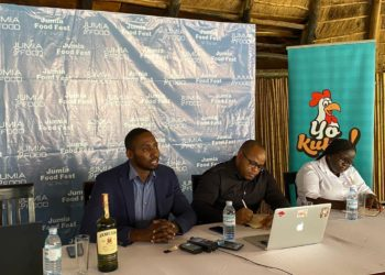 Ron Kawamara Jumia CEO addresses the media (PHOTO/Courtesy).