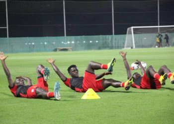 Some of the Cranes players during Thursday's session. (PHOTOS/Courtesy)