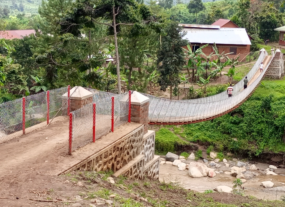 The suspended foot cable bridge project designs locally appropriate bridges that provide safe and cost effective access to healthcare, education and markets to the communities (PHOTO/Courtesy).