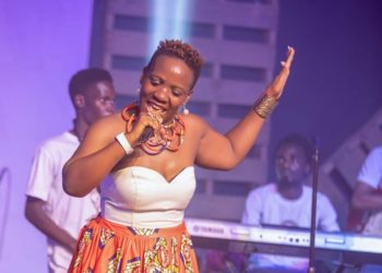 Bobi Wine's sister Irene Kayemba performing (PHOTO/Courtesy).