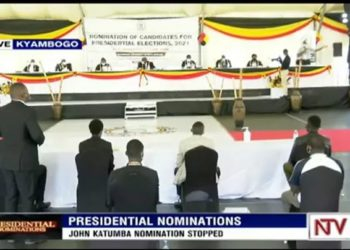 Presidential aspirant John Katumba was   shown the exit at the Kyambogo nominations grounds for failure to meet the nominations standards (PHOTO/NTV Uganda).