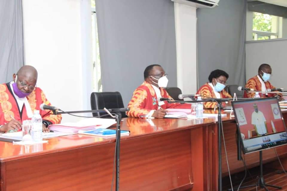 Justices during a court hearing on Tuesday (PHOTO/Courtesy).
