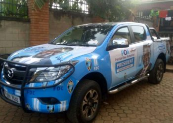 The brand new pickup donated to FDC Presidential candidate Amuriat (PHOTO/Courtesy).