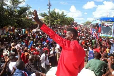 Bobi Wine pulled out massive crowds as he campaigned in West Nile (PHOTO/Courtesy).