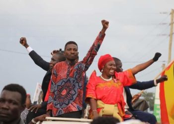 Bobi Wine campaigned in Pader and Gulu amid teargas and police interference (PHOTO/Courtesy).