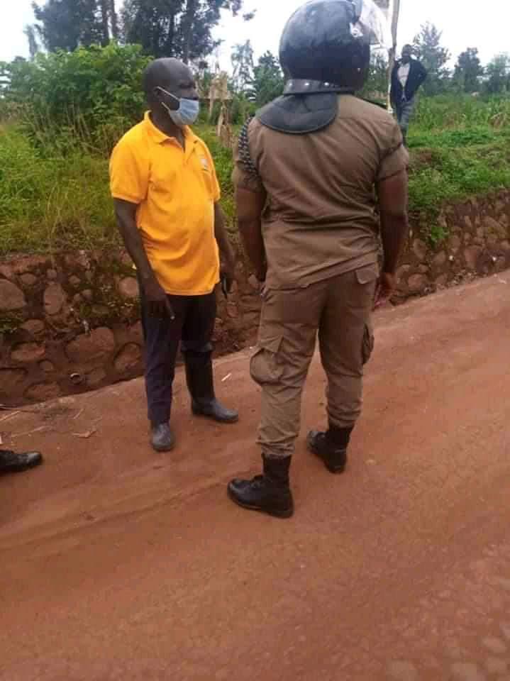 NRM's Tanga Odoi has been blocked from disrupting Bobi Wine rally in Tororo (PHOTO/Courtesy).
