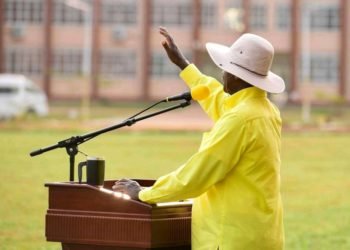 Mzee Museveni Tubuhaburwa campaigning in Soroti on Saturday (PHOTO/Courtesy).