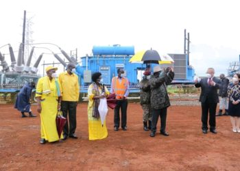 50megawatt mobile power station serving Sino-Mbale commissioned by President Museveni (PHOTO/Courtesy).