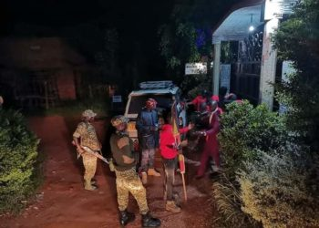 Heavy armed military men have sealed off Bobi Wine Hotel in Hoima (PHOTO/Courtesy).