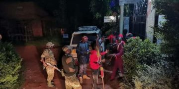 Heavy armed military men have sealed off Bobi Wine Hotel in Hoima (PHOTO/Courtesy).