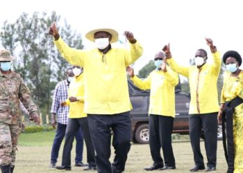 President Museveni during his campaign in Sironko district (PHOTO/Courtesy).