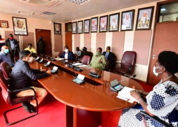 Speaker Kadaga in a meeting with the directors of the sugar canes (PHOTO/Courtesy).