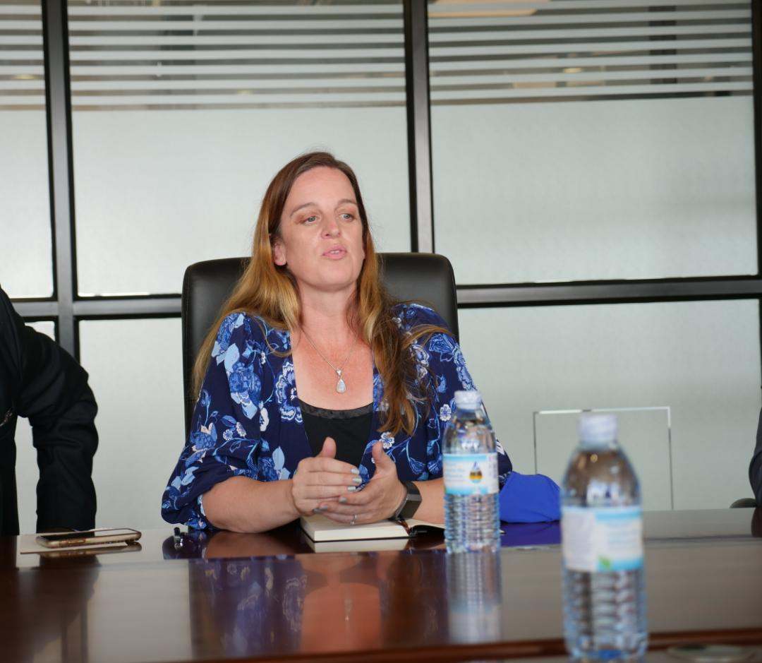 Lisa Stark Hughes an American Health investor who has been in the country for a while has commended President Museveni for building a robust health sector that favors establishment of big investments in the country (PHOTO/Courtesy)