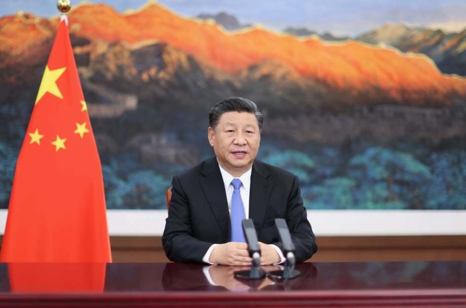 Chinese President Xi Jinping delivers a keynote speech via video at the opening ceremony of the third China International Import Expo held in east China's Shanghai on Nov. 4, 2020. (PHOTO/Xinhua).