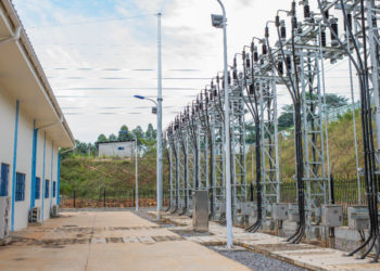 Umeme integration line from the UETCL Mukono North Substation supplying power to the industrial areas of Mbala and Mpata (PHOTO/Courtesy).